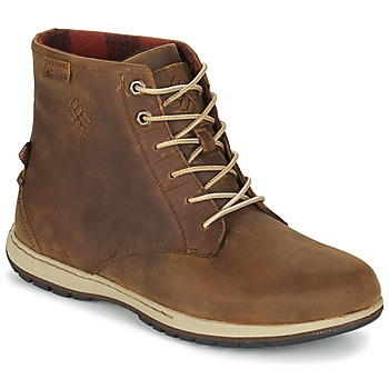Zapatos Hombre Botas de caña baja Columbia DAVENPORT SIX WATERPROOF LEATHER Elk / Buro