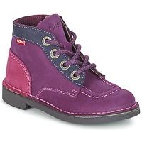 Zapatos Niña Botas de caña baja Kickers KICK COLZ Violeta / Marino / Rosa