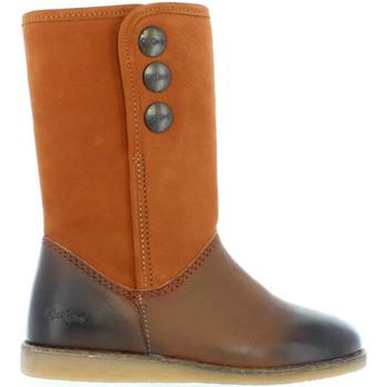 Zapatos Niña Botas urbanas Kickers 440761-30 FLOBIZZ Marrón
