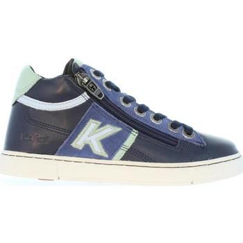 Zapatos Niños Botas de caña baja Kickers 464283-30 POOLOVER Azul