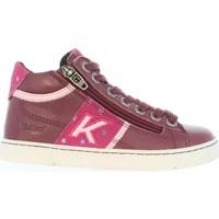 Zapatos Niños Botas de caña baja Kickers 464284-30 POOLOVER Rojo