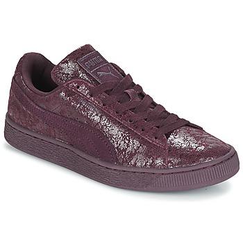 Zapatos Mujer Zapatillas bajas Puma WNS SUEDE C REMAST.WINE Violeta