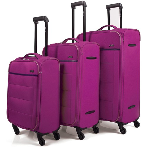 Bolsos Maleta flexible Jaslen 76300 SET 3 TROLLEYS POLIESTER Fucsia