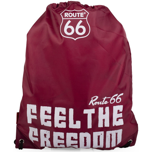 Bolsos Mochila de deporte Route 66 R13038 SAQUITO DEPORTE FEEL THE FREEDOM Granate