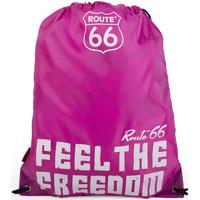 Bolsos Mochila de deporte Route 66 R13038 SAQUITO DEPORTE FEEL THE FREEDOM Fucsia