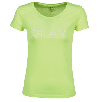 textil Mujer camisetas manga corta Only Play BASIC Amarillo