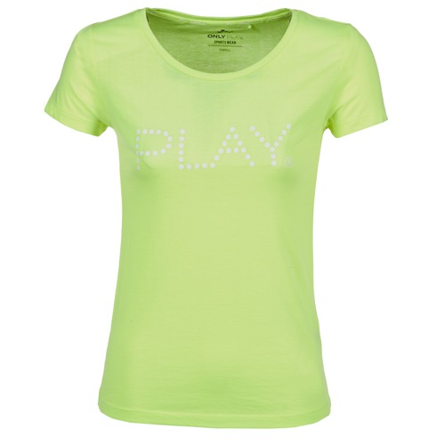 textil Mujer camisetas manga corta Only Play BASIC Amarillo