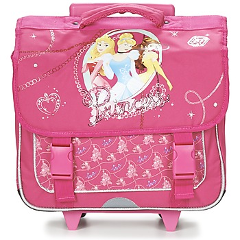Bolsos Niña Mochila / Cartera con ruedas Disney PRINCESSES CARTABLE TROLLEY 38CM Rosa