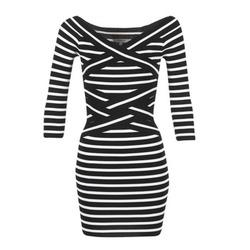 textil Mujer vestidos cortos Morgan RBEST Negro / CRUDO