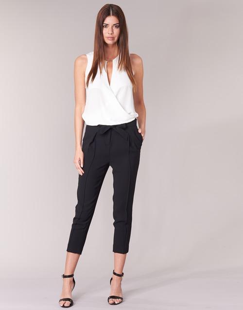textil Mujer Pantalones fluidos Morgan LIKI Negro