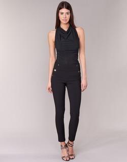 textil Mujer pantalones con 5 bolsillos Morgan PSHAPA Negro
