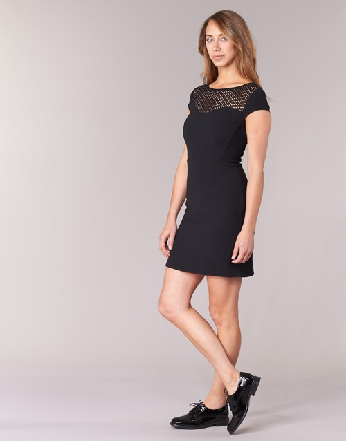 Morgan Mujer Vestidos Cortos Renal Negro Textil j4LR35A