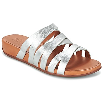 Zapatos Mujer Sandalias FitFlop LUMY SLIDE Plata