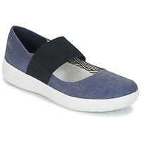 Zapatos Mujer Bailarinas-manoletinas FitFlop FSPORTY MARY JANE CANVAS Midnight / Navy