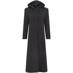 textil Mujer Abrigos De La Creme Abrigo largo de invierno con lana y capucha de lana Grey