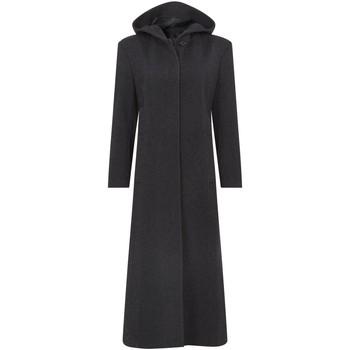 textil Mujer Abrigos De La Creme Abrigo de invierno de cachemira con capucha larga Grey