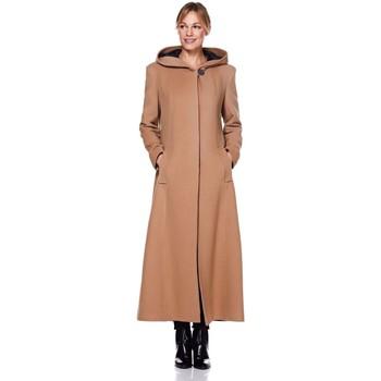 textil Mujer Abrigos De La Creme Abrigo largo de invierno con lana y capucha de lana BEIGE