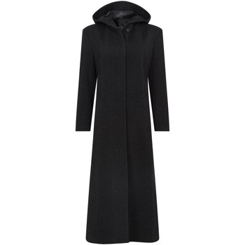 textil Mujer Abrigos De La Creme Abrigo largo de invierno con lana y capucha de lana Black