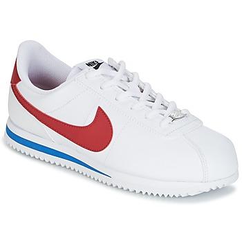 Zapatos Niños Zapatillas bajas Nike CORTEZ BASIC SL GRADE SCHOOL Blanco / Azul / Rojo