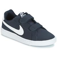 Zapatos Niño Zapatillas bajas Nike COURT ROYALE PRESCHOOL Azul / Blanco