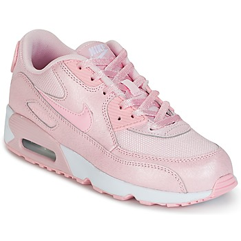 Zapatos Niña Zapatillas bajas Nike AIR MAX 90 MESH SE PRESCHOOL Rosa