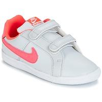 Zapatos Niña Zapatillas bajas Nike COURT ROYALE TODDLER Gris / Rosa
