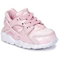 Zapatos Niña Zapatillas bajas Nike HUARACHE RUN SE TODDLER Rosa