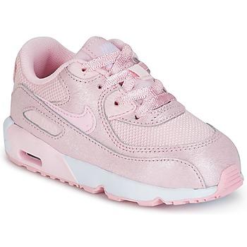 Zapatos Niña Zapatillas bajas Nike AIR MAX 90 MESH SE TODDLER Rosa