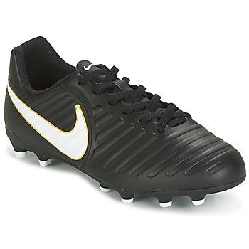Zapatos Niños Fútbol Nike TIEMPO RIO IV FG JUNIOR Negro / Blanco