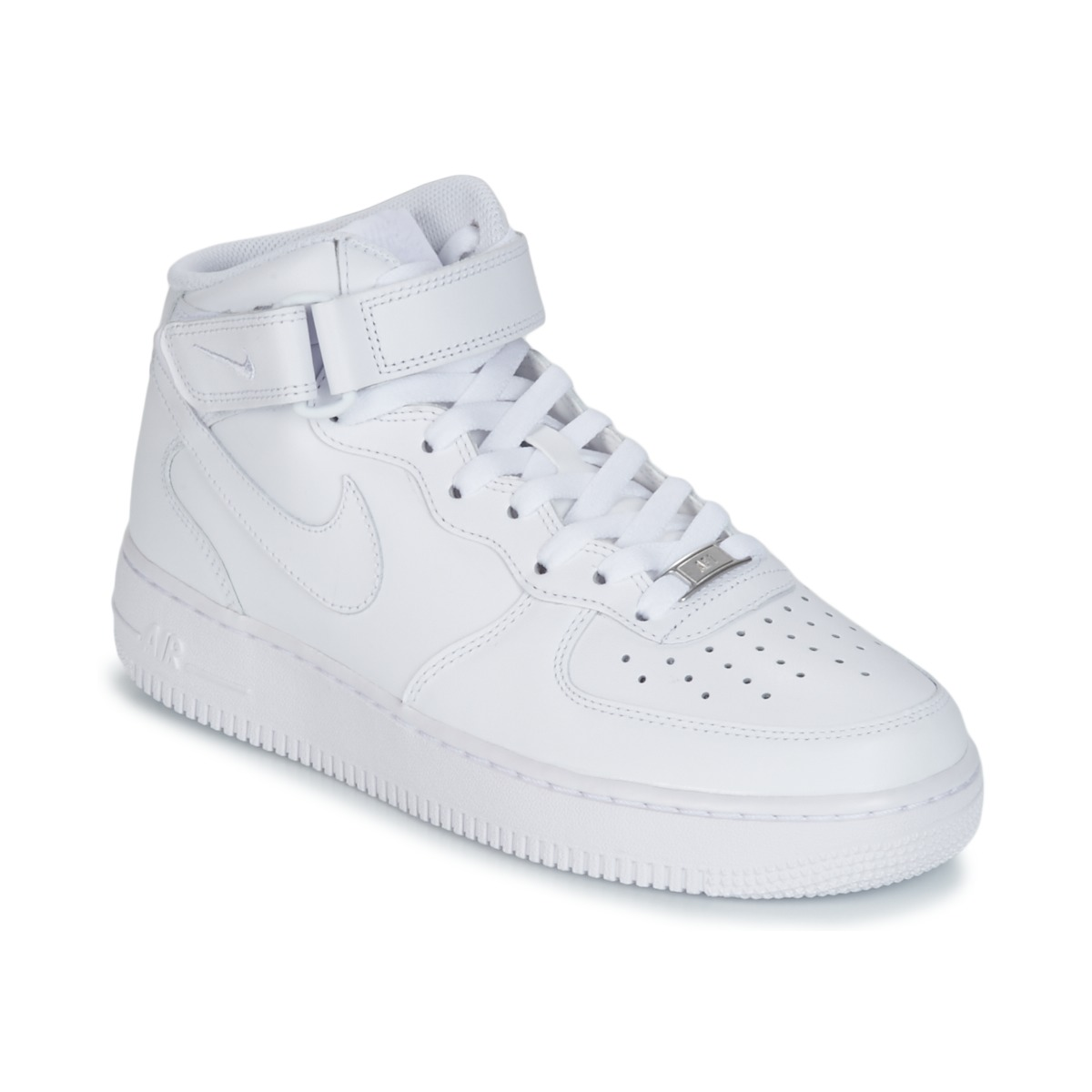 Zapatos Hombre Zapatillas altas Nike AIR FORCE 1 MID 07 LEATHER Blanco e3600d38e5ea