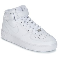 Zapatos Hombre Zapatillas altas Nike AIR FORCE 1 MID 07 LEATHER Blanco