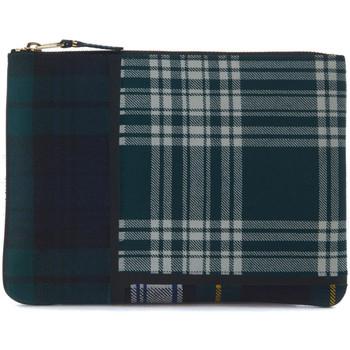Relojes & Joyas Joyas Comme Des Garcons Bolso de mano en lana tartan patchwork verde Verde