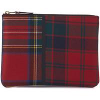 Relojes & Joyas Joyas Comme Des Garcons Bolso de mano en lana tartan patchwork rojo Rojo