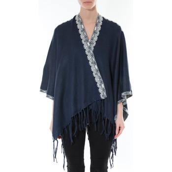 textil Mujer Jerséis De Fil En Aiguille Poncho Senes  Marine YM 121 Azul