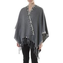 textil Mujer Jerséis De Fil En Aiguille Poncho Senes  Anthracite  YM 121 Gris