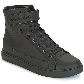 Zapatos Hombre Zapatillas altas Armani jeans JEFEM Negro