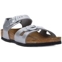 Zapatos Mujer Sandalias Birkenstock RIO SILVER Argento