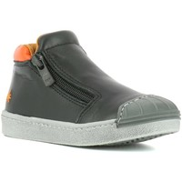 Zapatos Niño Zapatillas altas The Art Company A062 STAR BLACK-MANGO / SPLIT Negro
