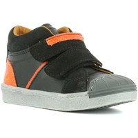 Zapatos Niño Zapatillas altas The Art Company A061 STAR-LUX SUEDE BLACK / SPLIT Negro