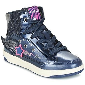 Zapatos Niña Zapatillas altas Geox J CREAMY A Marino / Rosa