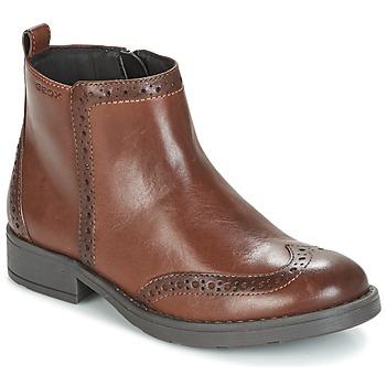 Zapatos Niña Botas de caña baja Geox J SOFIA F Marrón