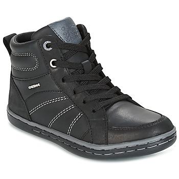 Zapatos Niño Zapatillas altas Geox J GARCIA B. B Negro / Gris