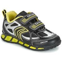 Zapatos Niño Zapatillas bajas Geox J SHUTTLE B. A Negro / Amarillo