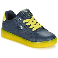 Zapatos Niño Zapatillas bajas Geox J KOMMODOR B.B Marino / Amarillo