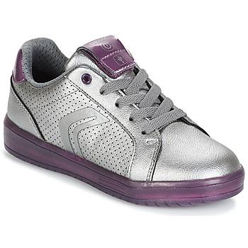 Zapatos Niña Zapatillas bajas Geox J KOMMODOR G.A Plata / Morado