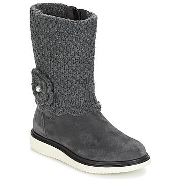 Zapatos Niña Botas urbanas Geox J THYMAR G. F Gris