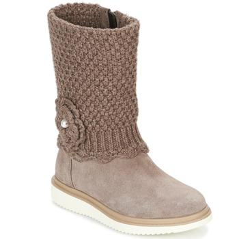 Zapatos Niña Botas urbanas Geox J THYMAR G. F Beige