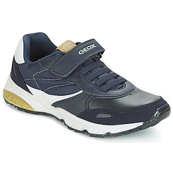 Zapatos Niño Zapatillas bajas Geox J BERNIE A Marino / Verde