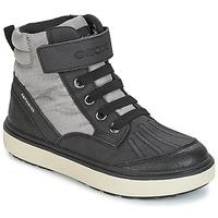 Zapatos Niño Zapatillas altas Geox J MATT.B ABX B Gris / Negro