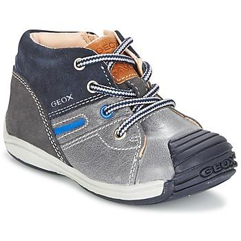 Zapatos Niño Zapatillas altas Geox B TOLEDO B. A Gris / Marino